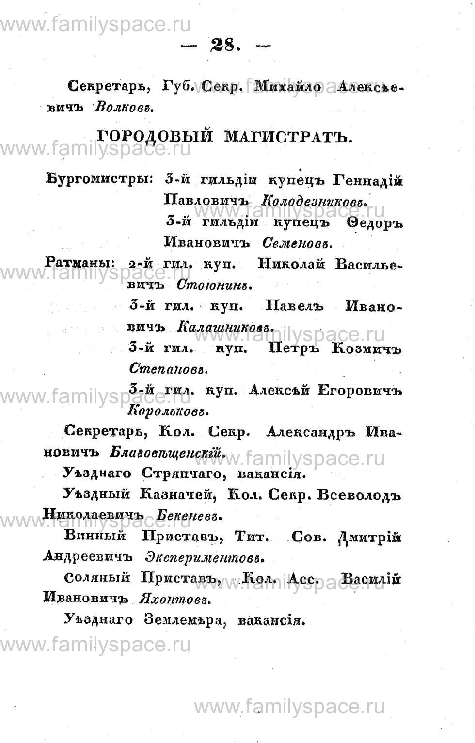 Поиск по фамилии - Памятная книжка Костромской губернии на 1853 год, страница 28