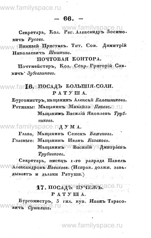Поиск по фамилии - Памятная книжка Костромской губернии на 1853 год, страница 66