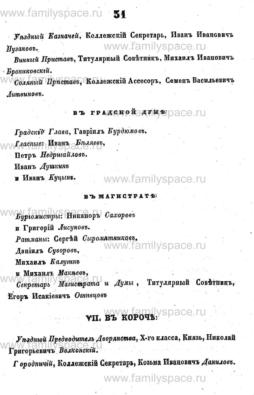 Поиск по фамилии - Адрес-календарь Курской губернии на 1853 год, страница 1031