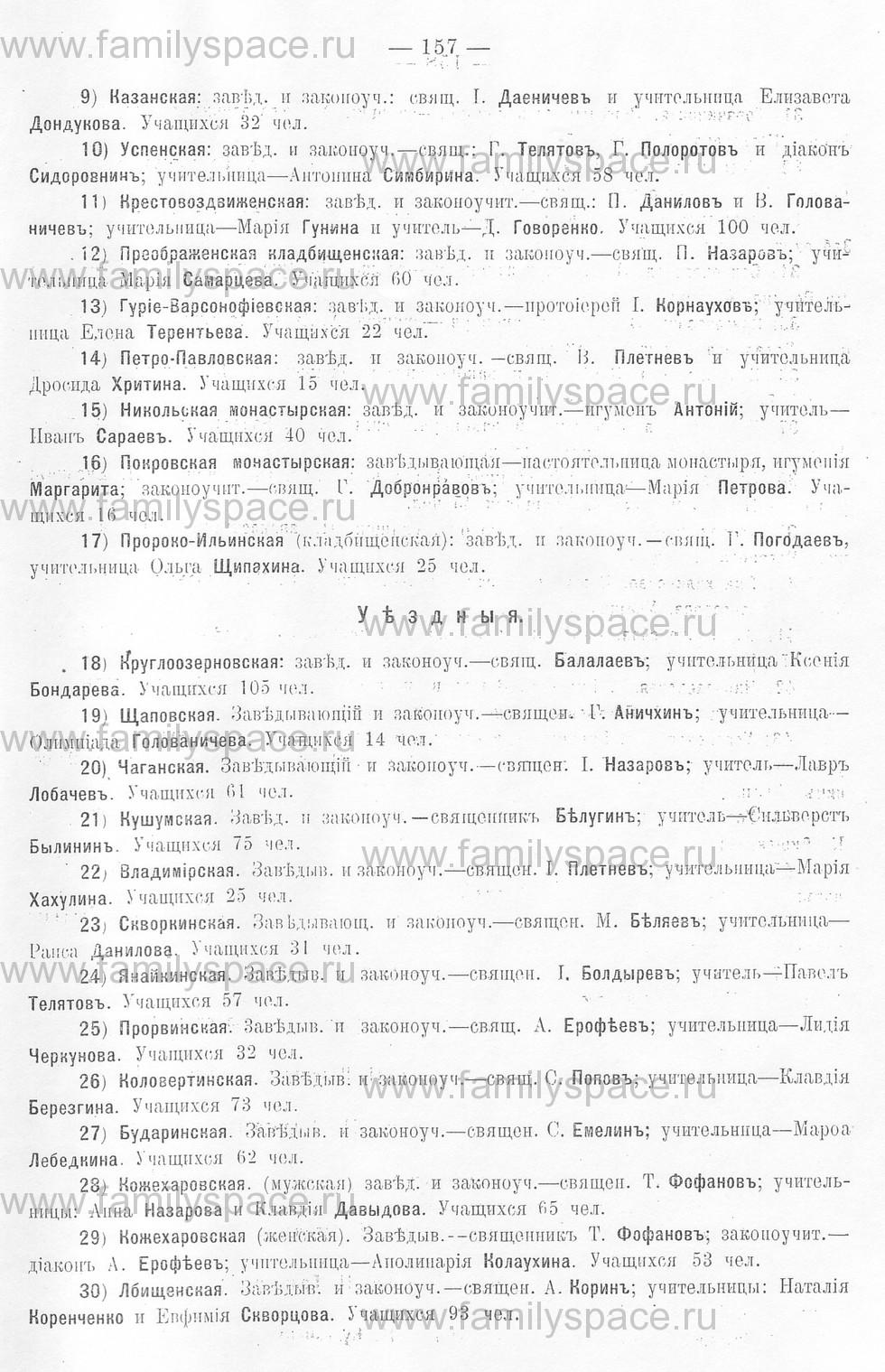 Поиск по фамилии - Памятная книжка Уральской области на 1913 год, страница 157
