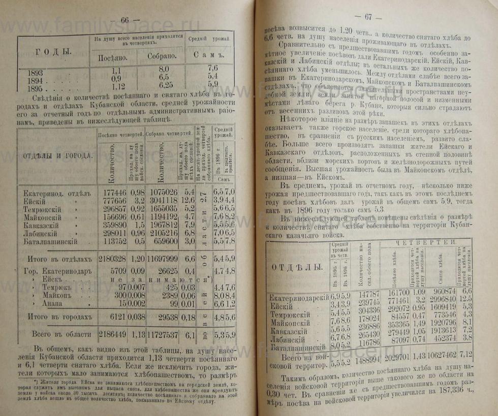 Поиск по фамилии - Кубанский календарь на 1898 год, страница 2066
