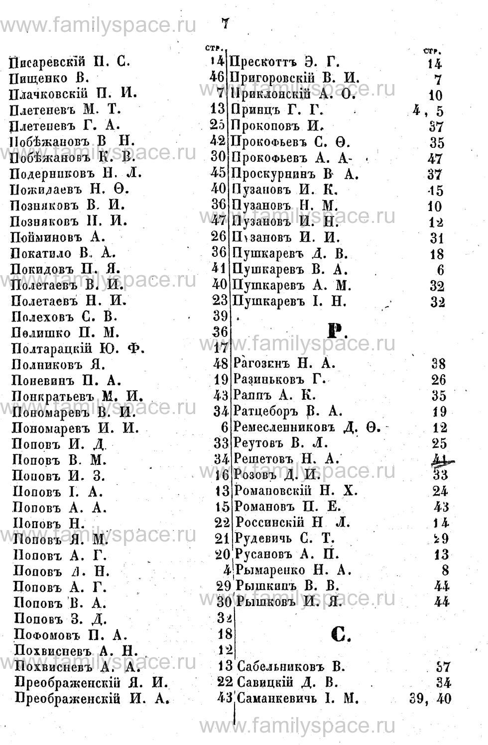 Поиск по фамилии - Адрес-календарь Курской губернии на 1853 год, страница 2007