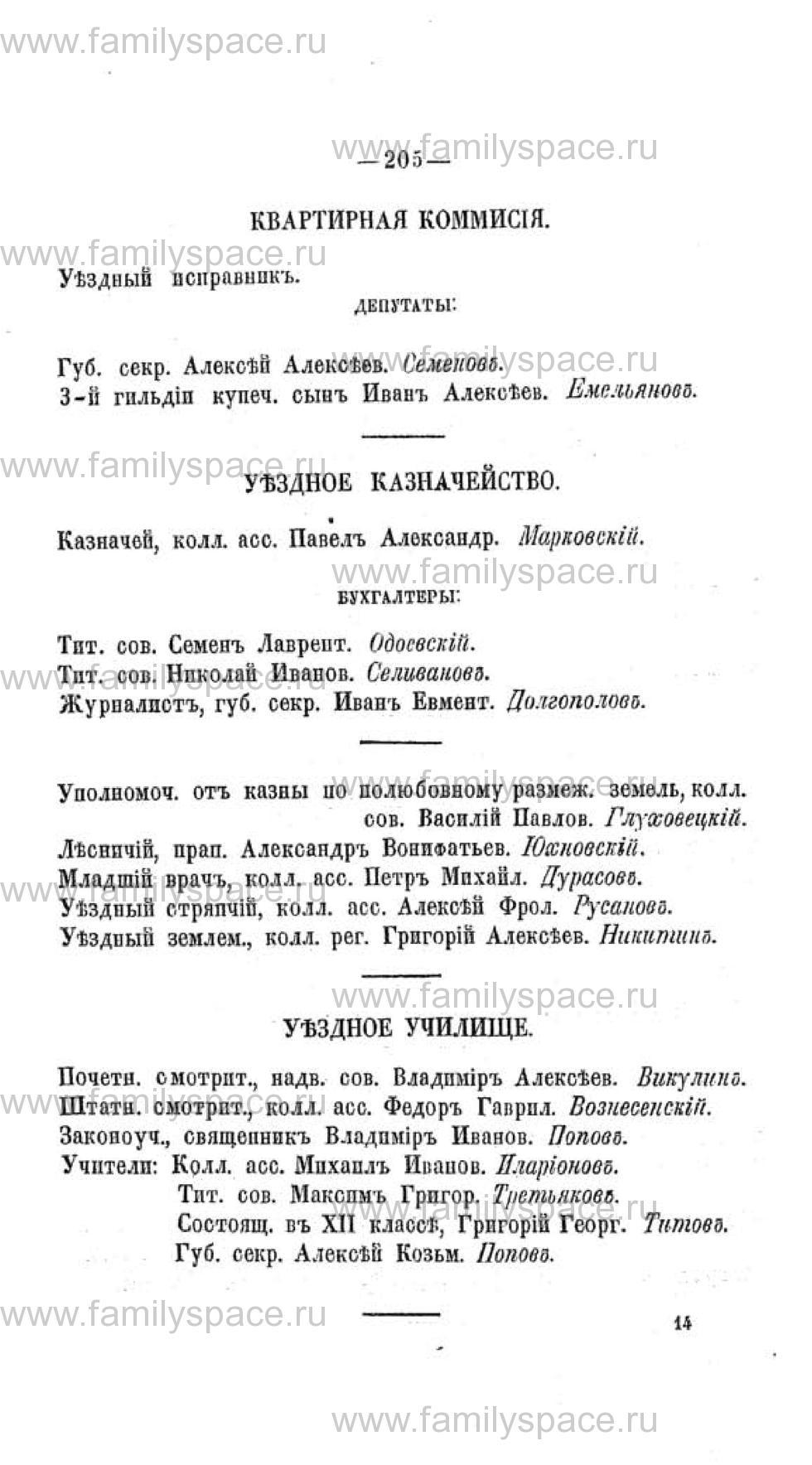 Поиск по фамилии - Памятная книжка Воронежской губернии на 1863-1864 годы, страница 205