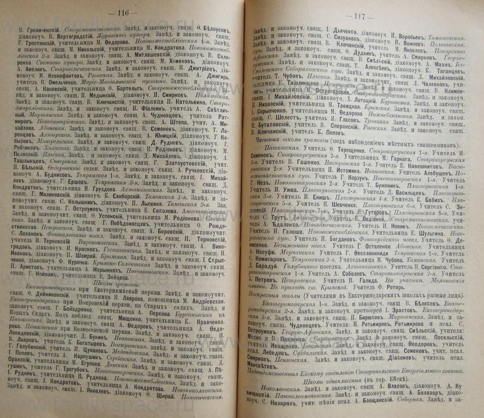 Поиск по фамилии - Кубанский календарь на 1898 год, страница 1116