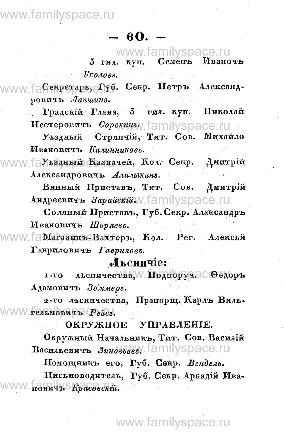 Поиск по фамилии - Памятная книжка Костромской губернии на 1853 год, страница 60
