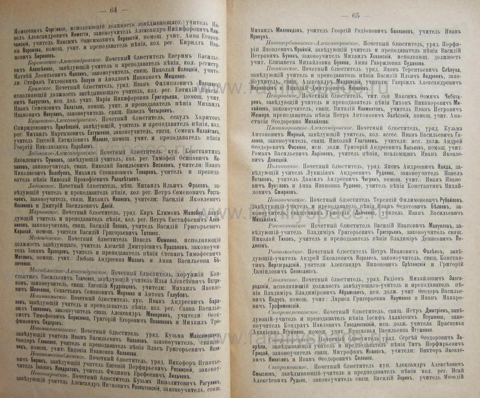 Поиск по фамилии - Кубанский календарь на 1898 год, страница 1064