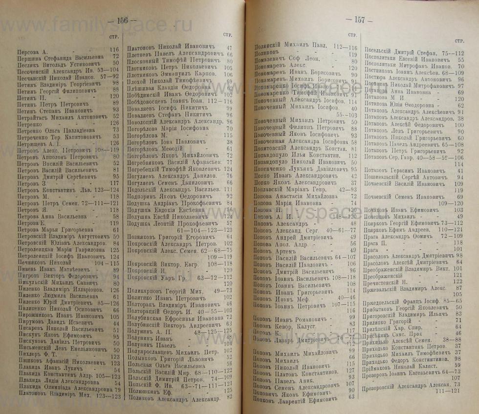 Поиск по фамилии - Кубанский календарь на 1898 год, страница 1156