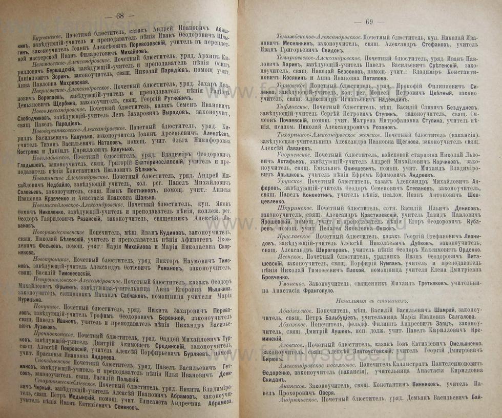 Поиск по фамилии - Кубанский календарь на 1898 год, страница 1068
