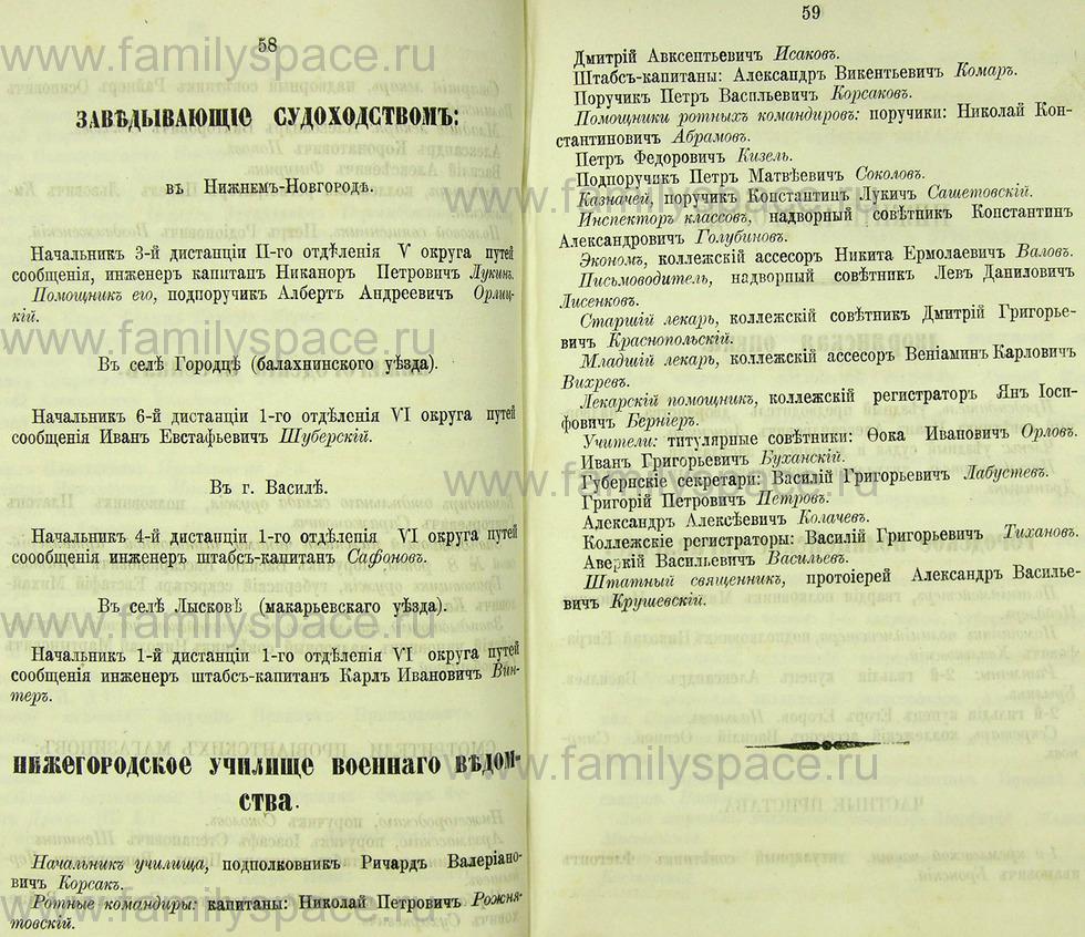 Поиск по фамилии - Памятная книжка Нижегородской губернии на 1865 год, страница 2058