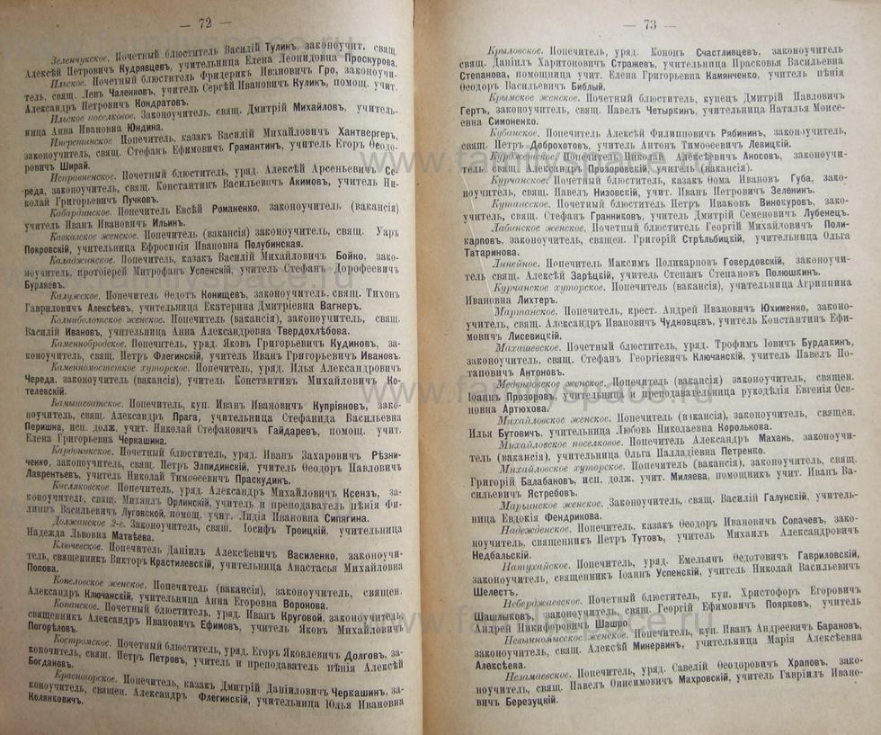 Поиск по фамилии - Кубанский календарь на 1898 год, страница 1072
