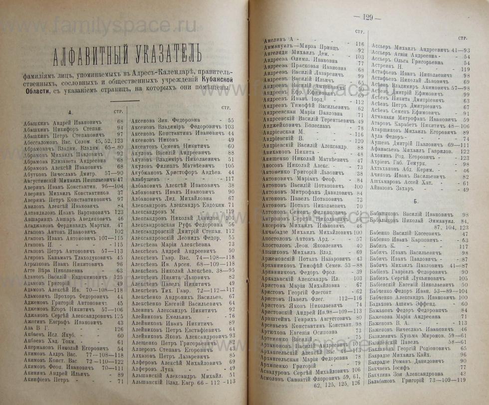 Поиск по фамилии - Кубанский календарь на 1898 год, страница 1128