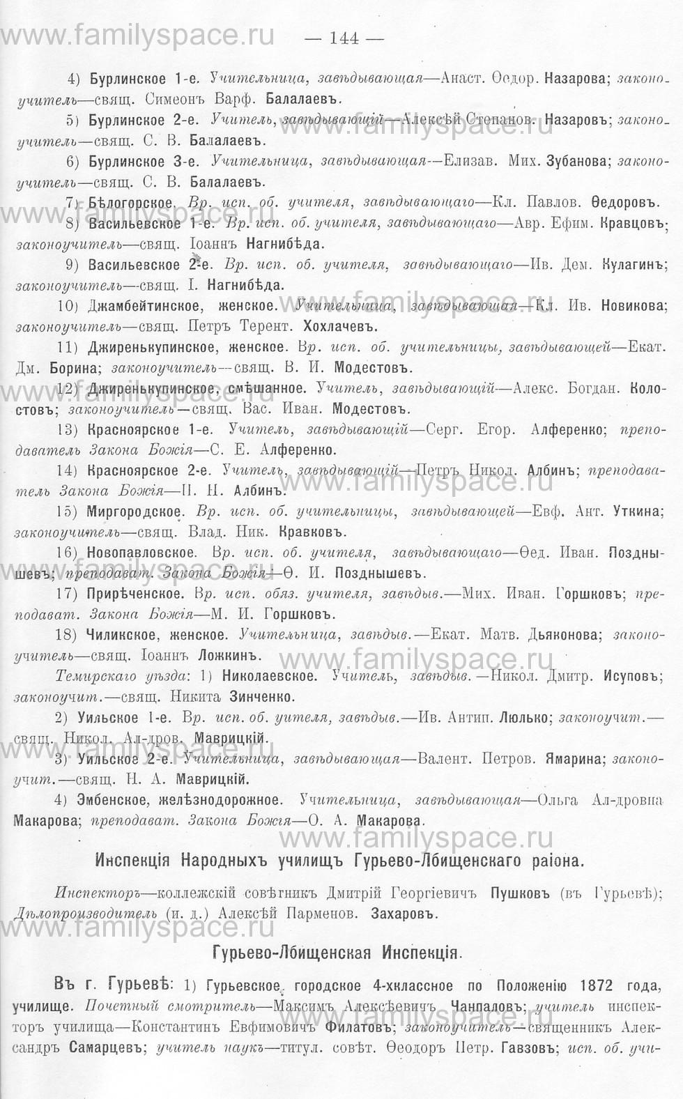 Поиск по фамилии - Памятная книжка Уральской области на 1913 год, страница 144