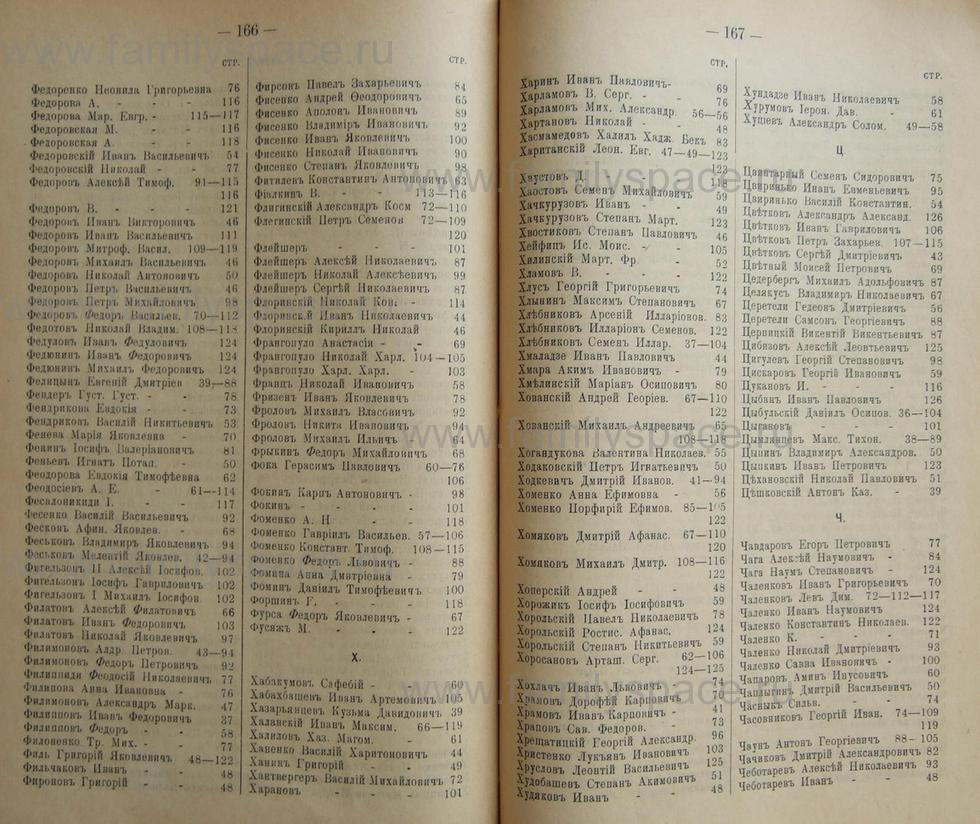 Поиск по фамилии - Кубанский календарь на 1898 год, страница 1166