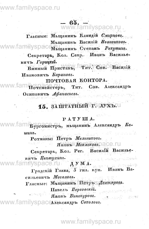 Поиск по фамилии - Памятная книжка Костромской губернии на 1853 год, страница 65