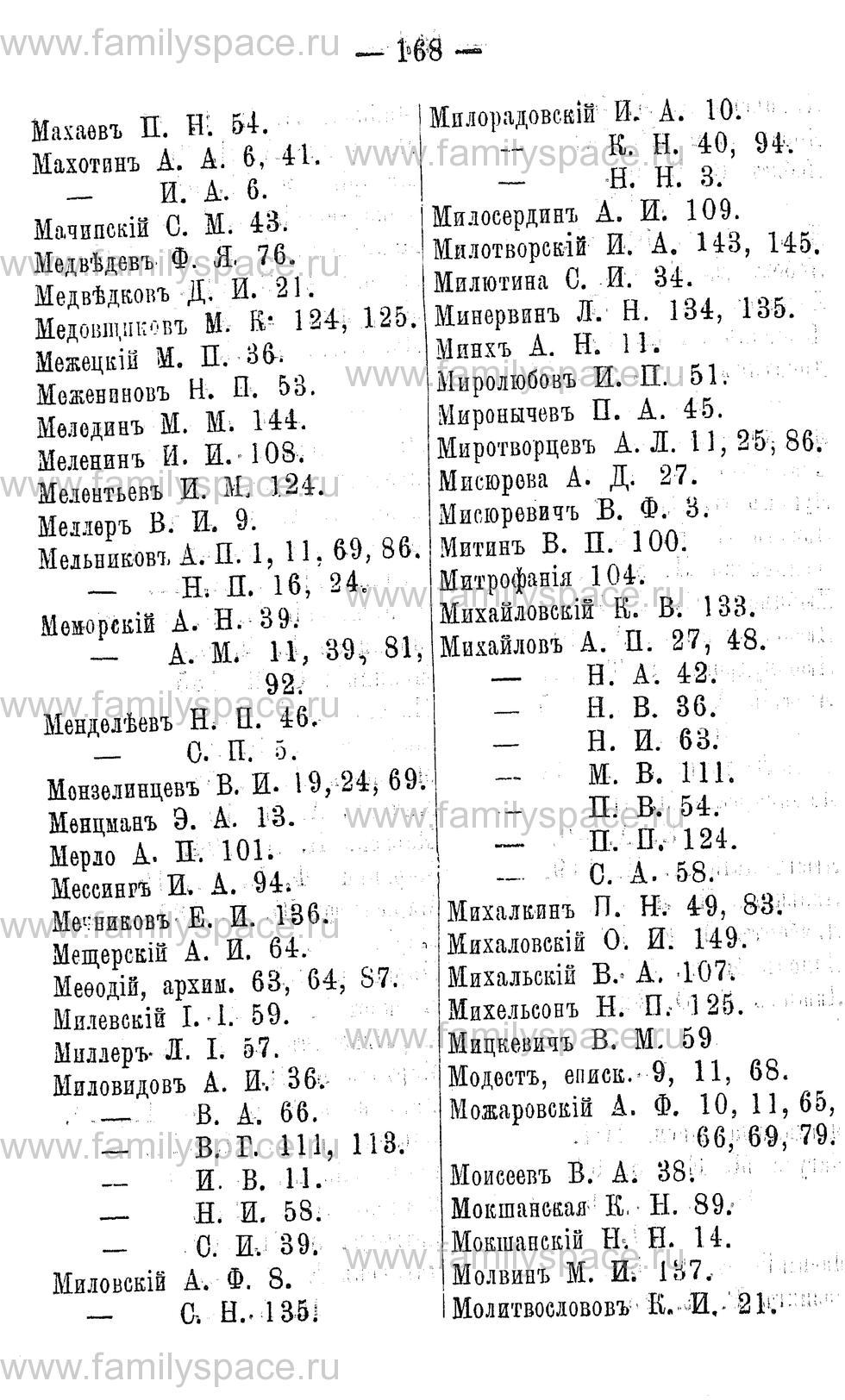 Поиск по фамилии - Адрес-календарь Нижегородской губернии на 1891 год, страница 168