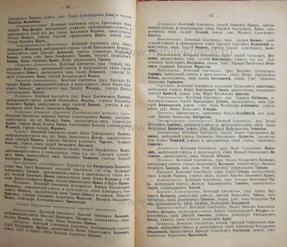 Поиск по фамилии - Кубанский календарь на 1898 год, страница 1066