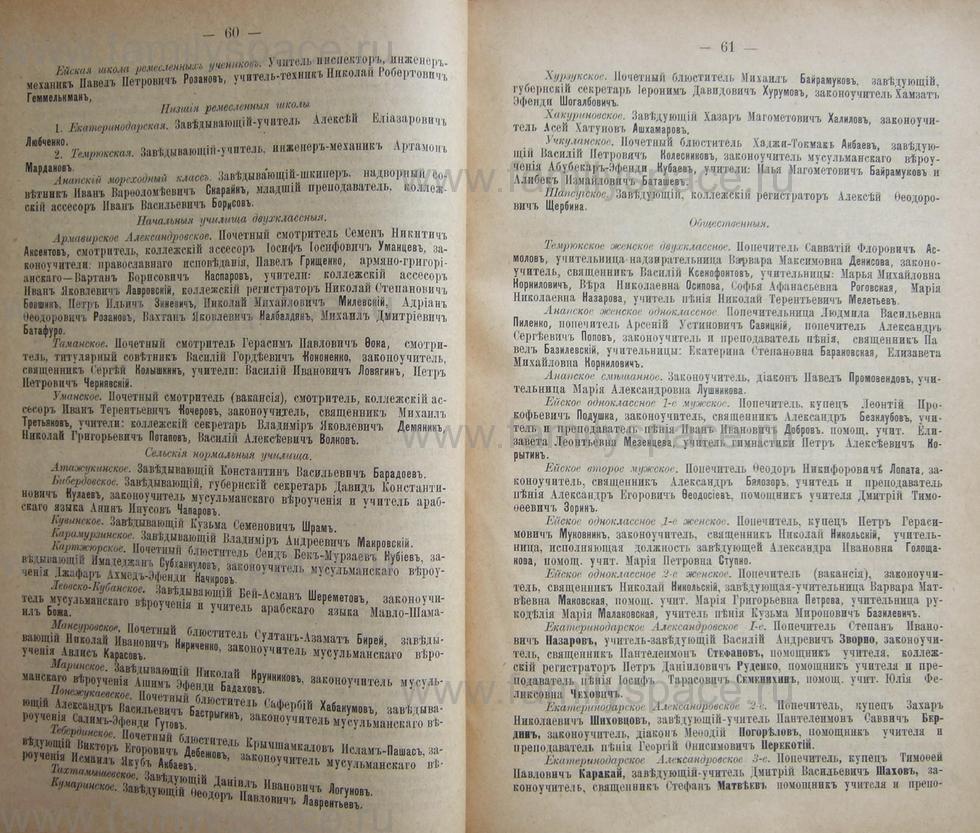 Поиск по фамилии - Кубанский календарь на 1898 год, страница 1060