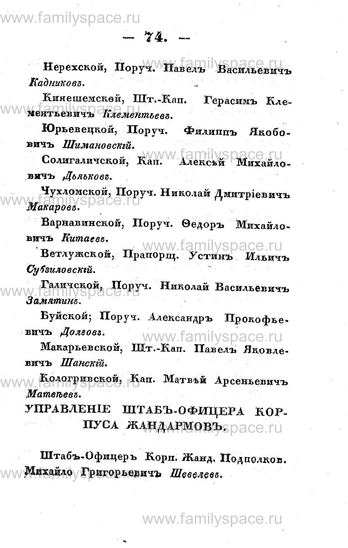Поиск по фамилии - Памятная книжка Костромской губернии на 1853 год, страница 74