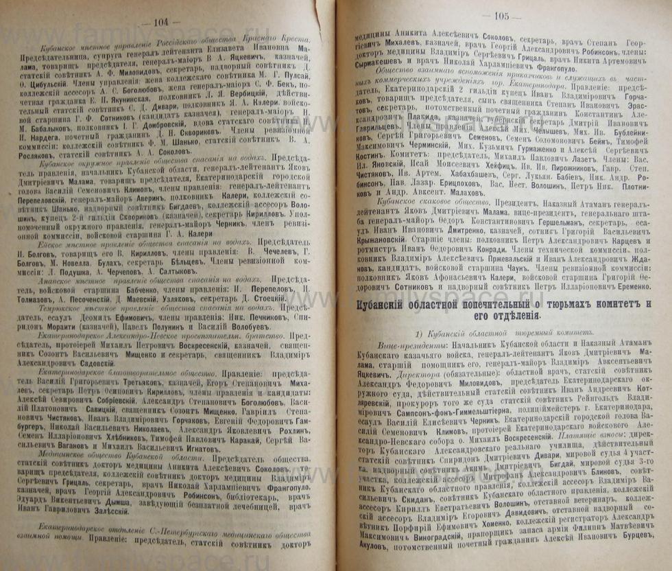 Поиск по фамилии - Кубанский календарь на 1898 год, страница 1104