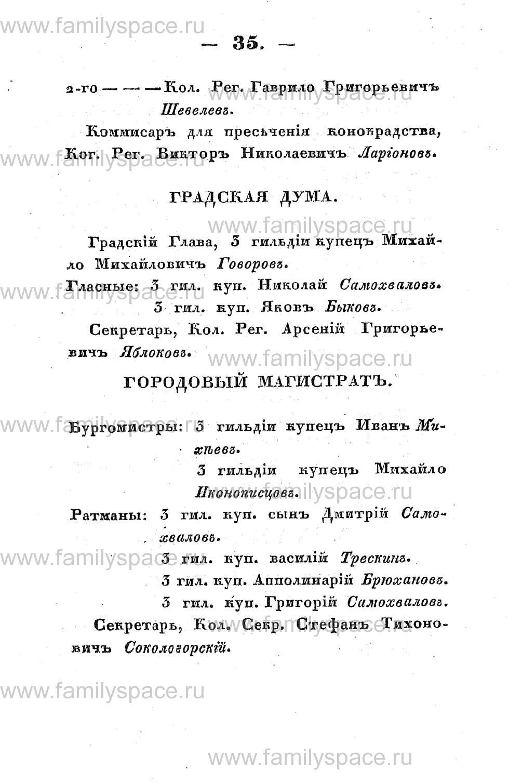 Поиск по фамилии - Памятная книжка Костромской губернии на 1853 год, страница 35