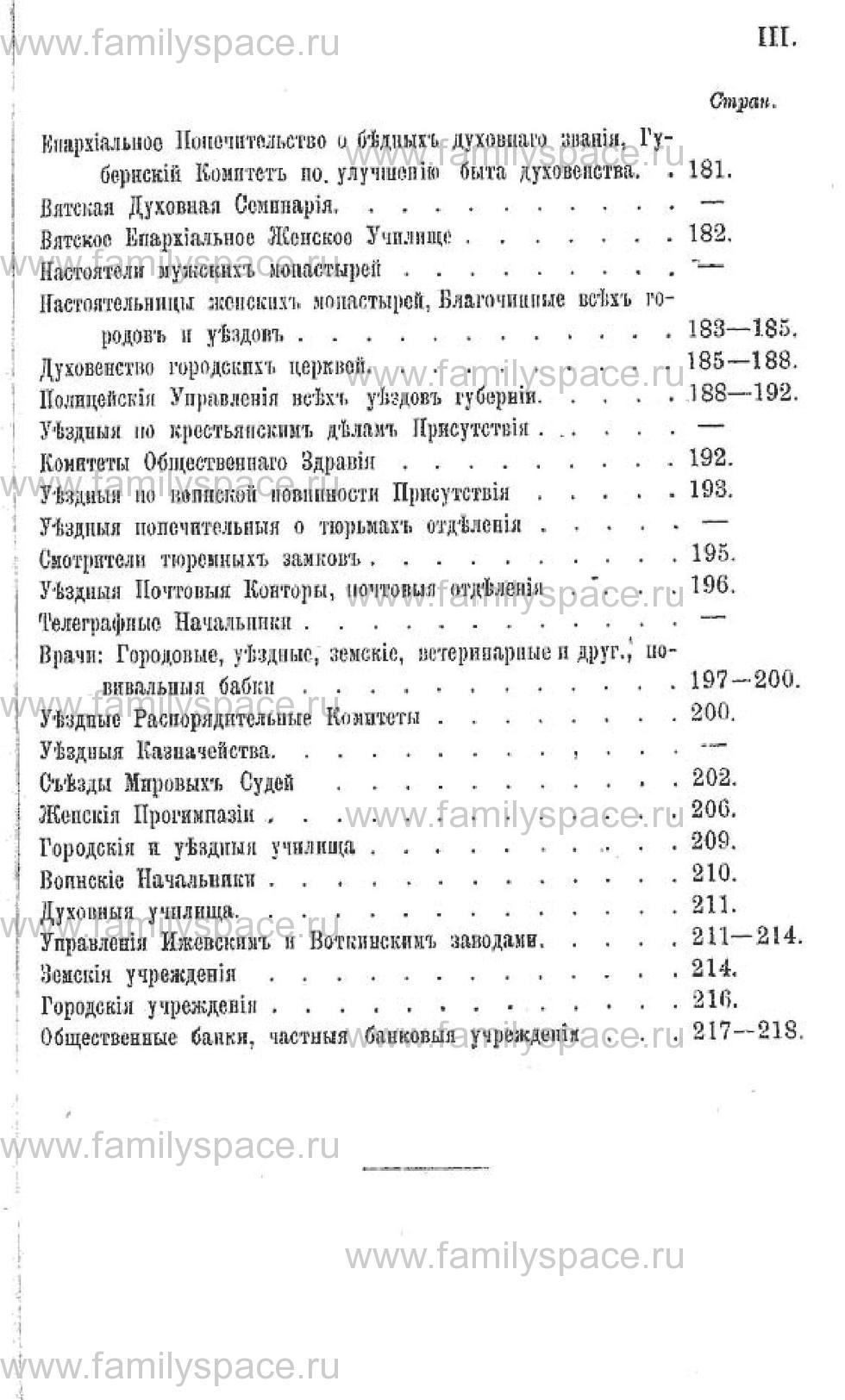 Поиск по фамилии - Календарь Вятской губернии на 1882 год, страница 224