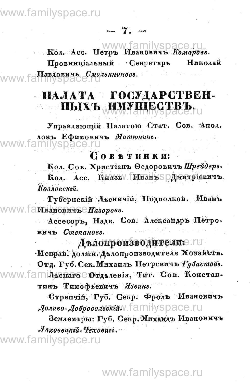 Поиск по фамилии - Памятная книжка Костромской губернии на 1853 год, страница 7