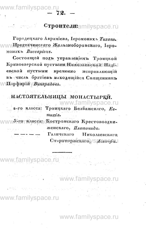 Поиск по фамилии - Памятная книжка Костромской губернии на 1853 год, страница 72