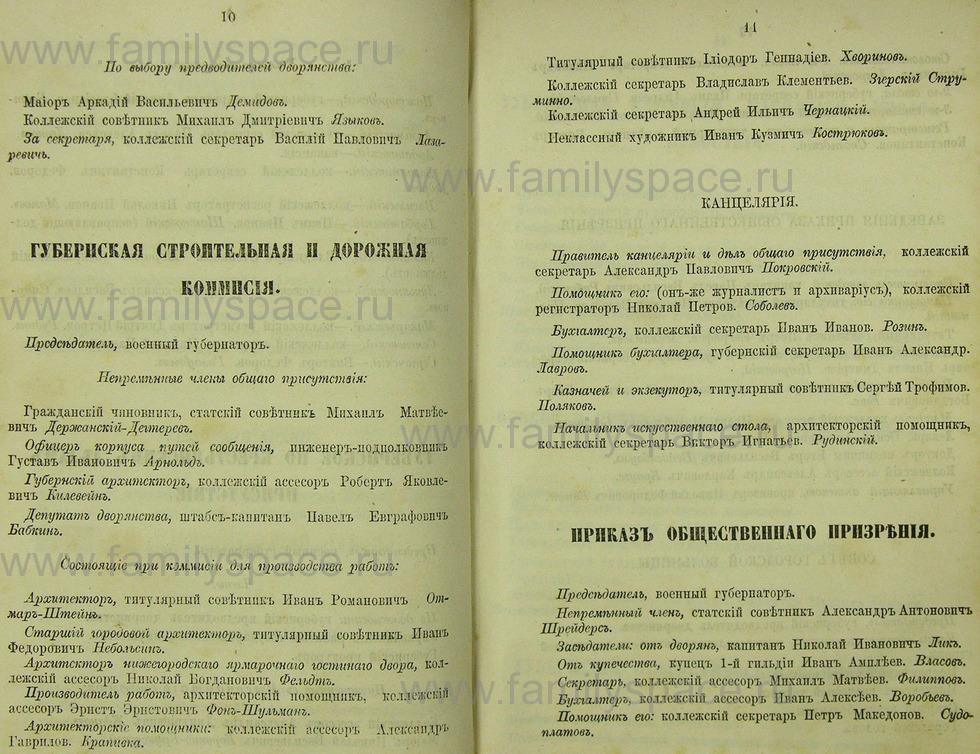 Поиск по фамилии - Памятная книжка Нижегородской губернии на 1865 год, страница 2010