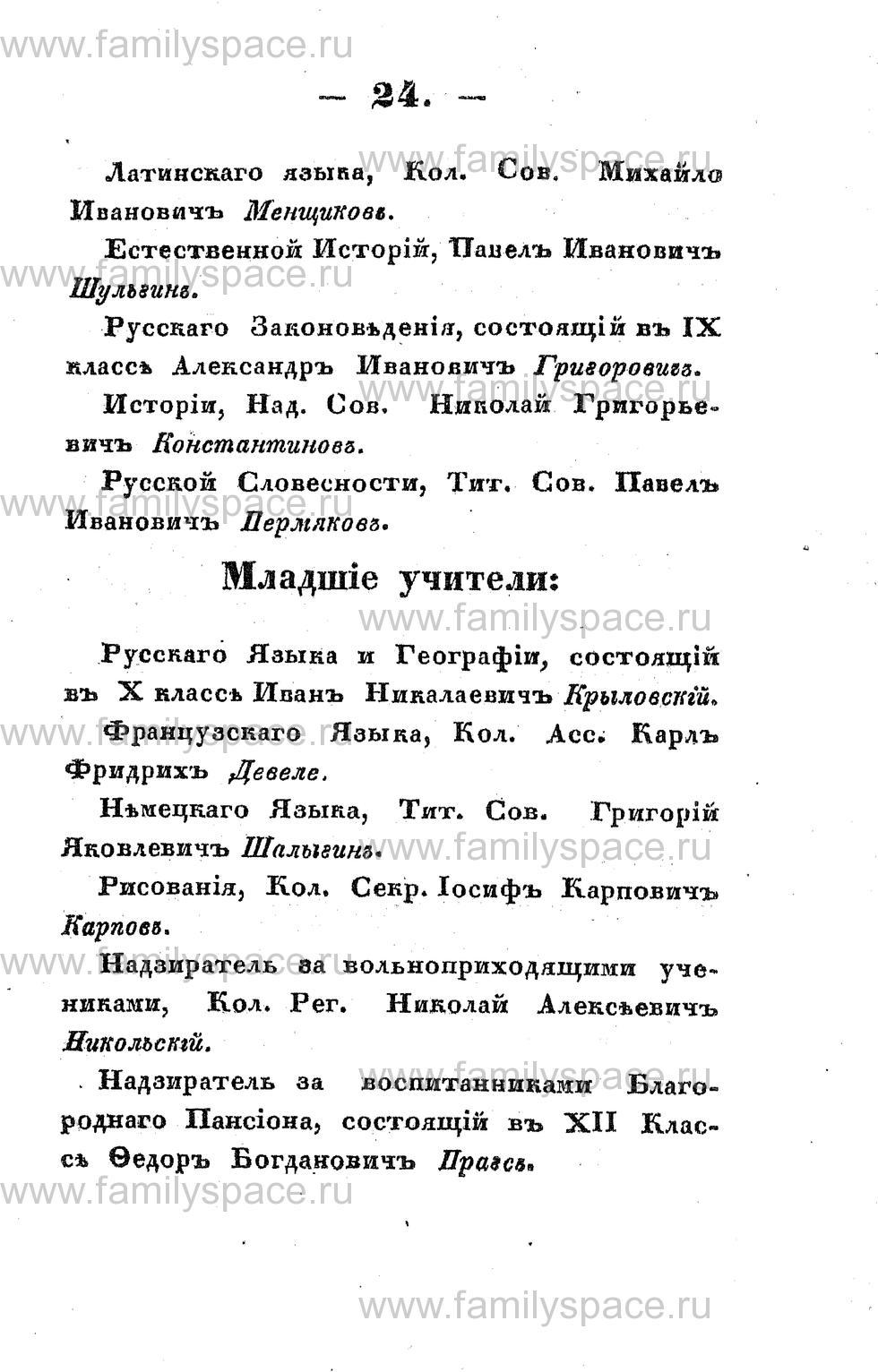 Поиск по фамилии - Памятная книжка Костромской губернии на 1853 год, страница 24