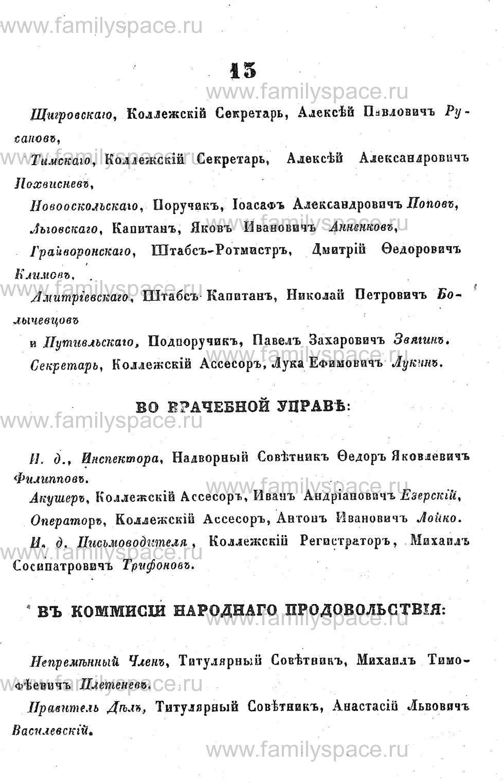 Поиск по фамилии - Адрес-календарь Курской губернии на 1853 год, страница 1013