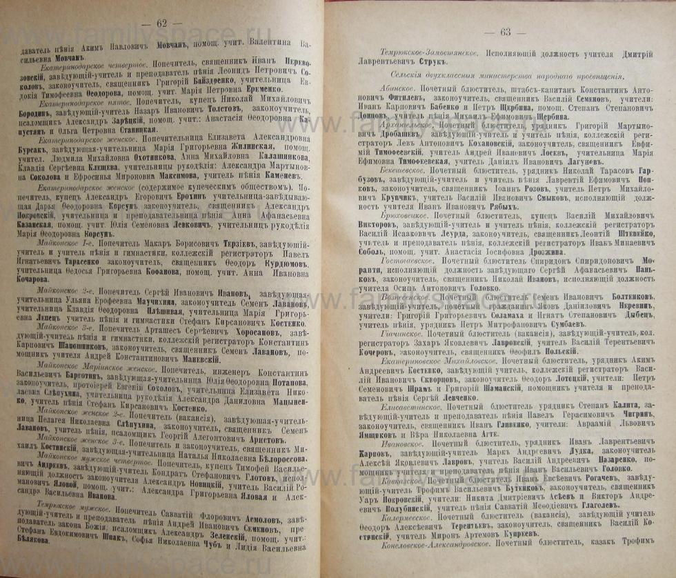 Поиск по фамилии - Кубанский календарь на 1898 год, страница 1062
