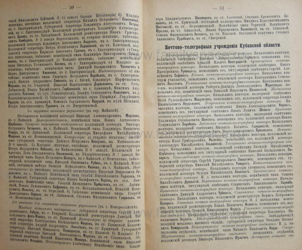 Поиск по фамилии - Кубанский календарь на 1898 год, страница 1050