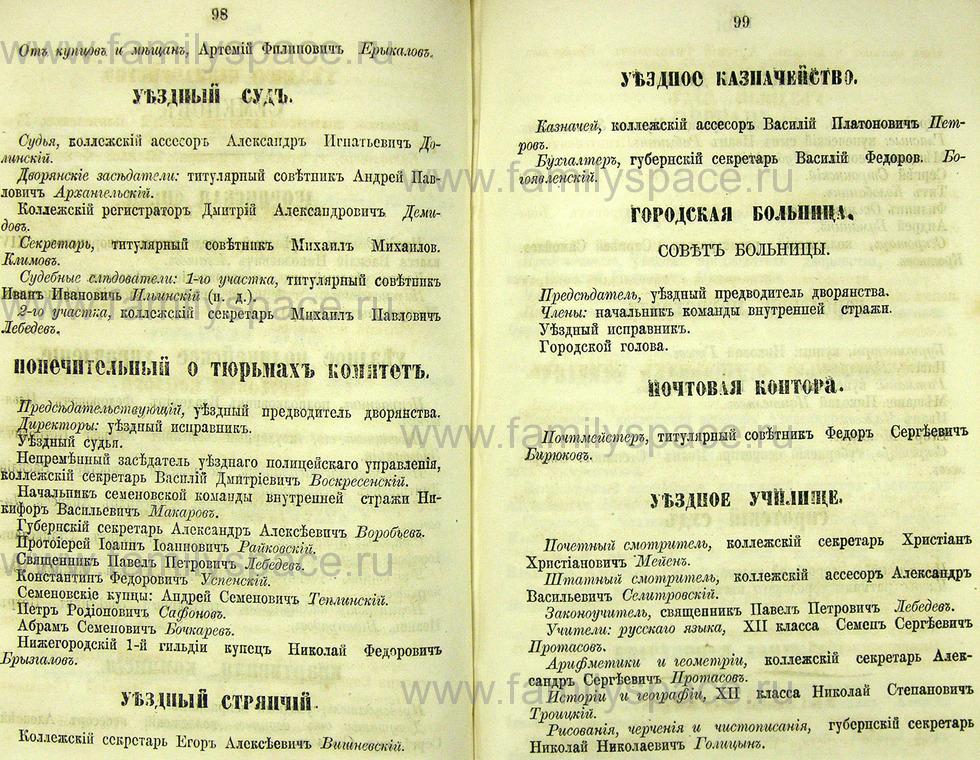Поиск по фамилии - Памятная книжка Нижегородской губернии на 1865 год, страница 2098