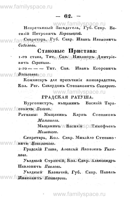 Поиск по фамилии - Памятная книжка Костромской губернии на 1853 год, страница 62
