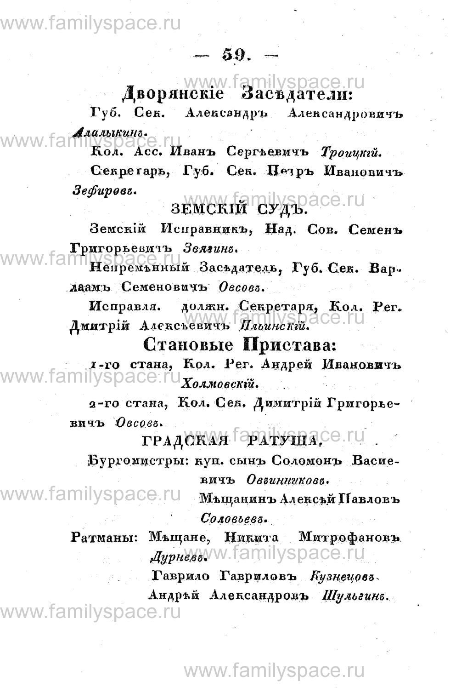 Поиск по фамилии - Памятная книжка Костромской губернии на 1853 год, страница 59