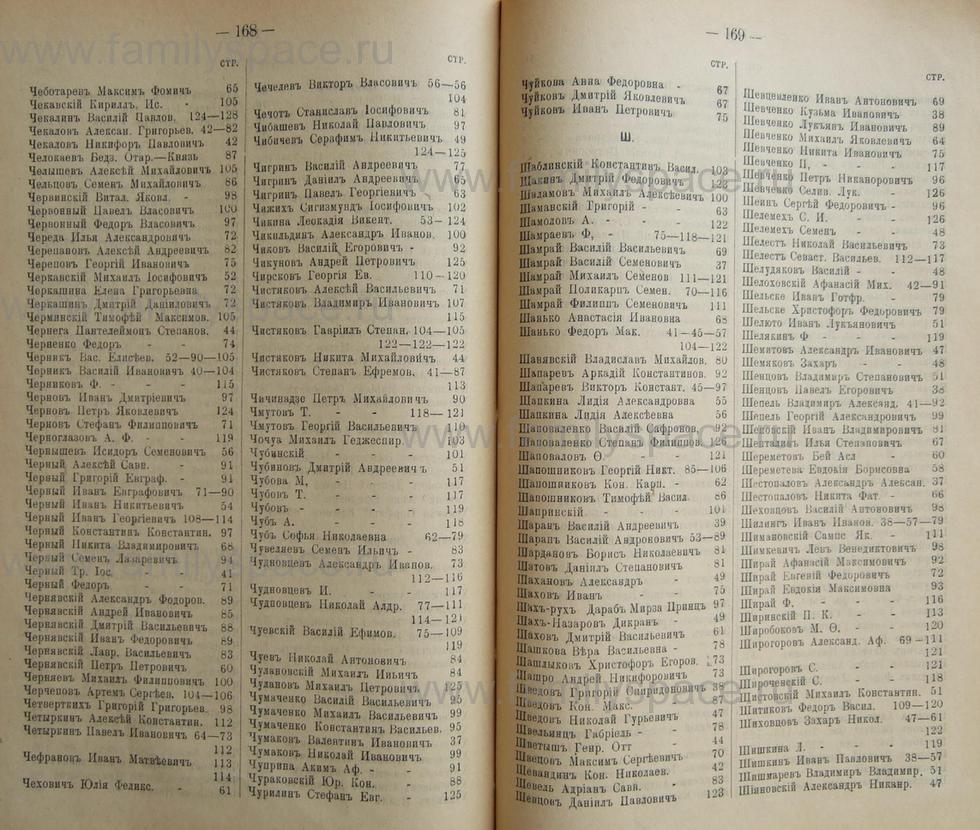 Поиск по фамилии - Кубанский календарь на 1898 год, страница 1168