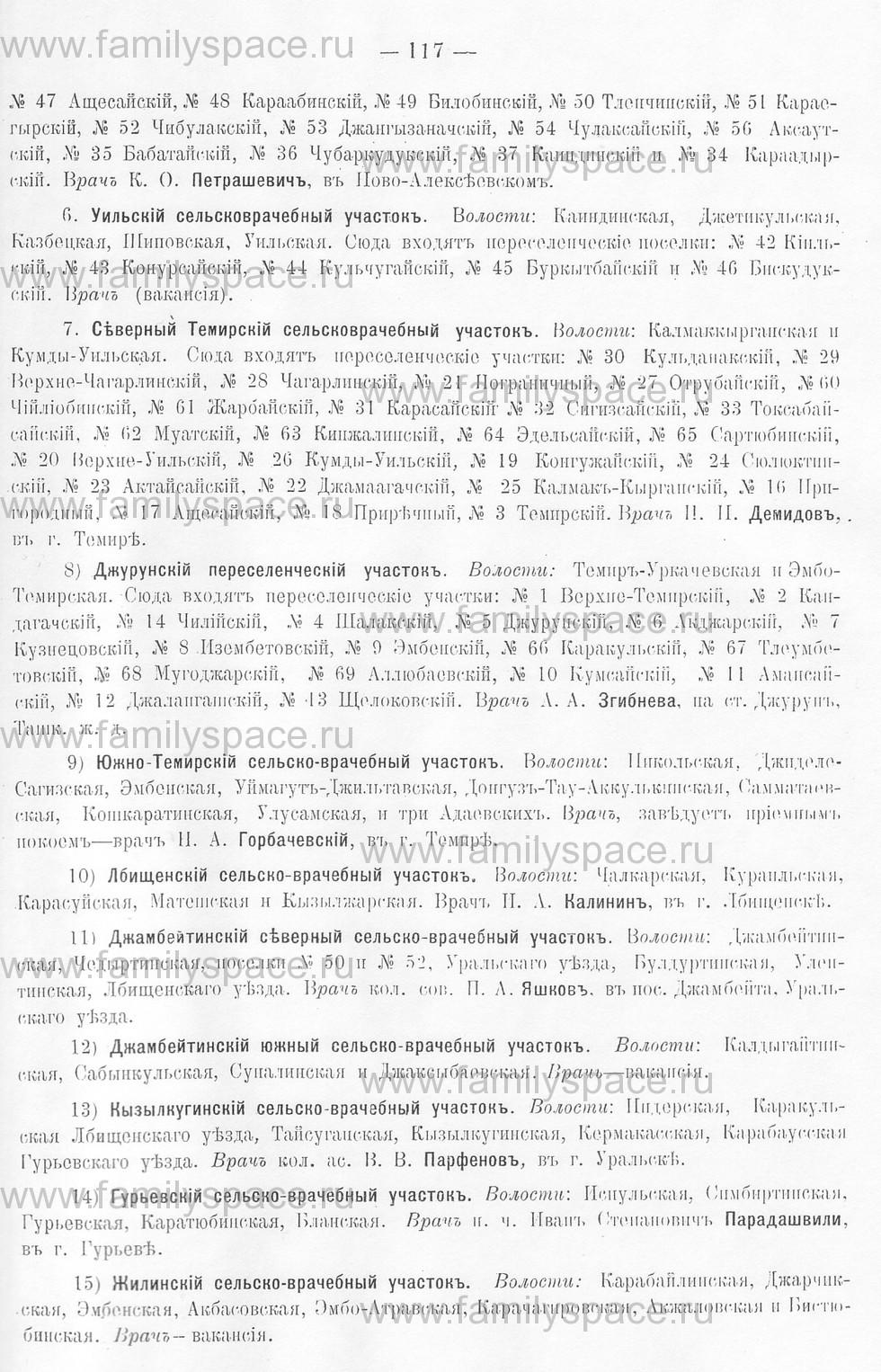 Поиск по фамилии - Памятная книжка Уральской области на 1913 год, страница 117