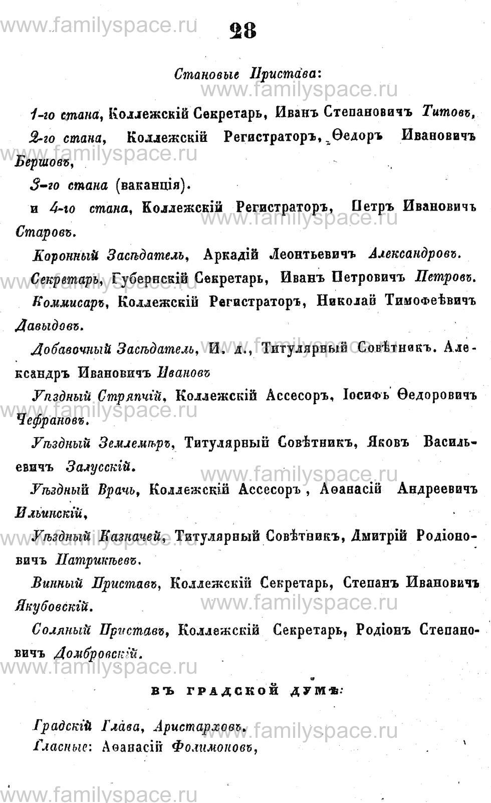 Поиск по фамилии - Адрес-календарь Курской губернии на 1853 год, страница 1028