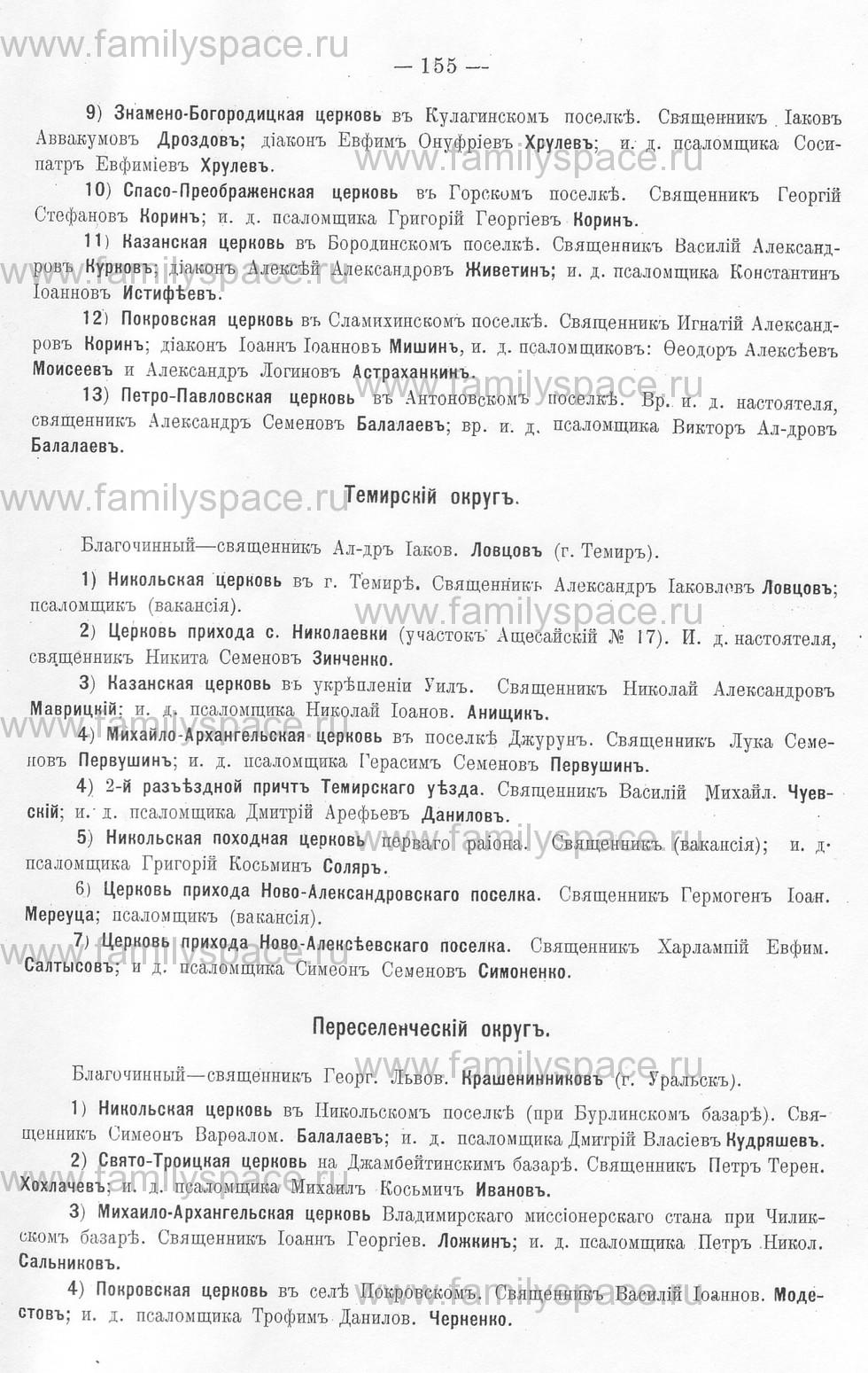 Поиск по фамилии - Памятная книжка Уральской области на 1913 год, страница 155