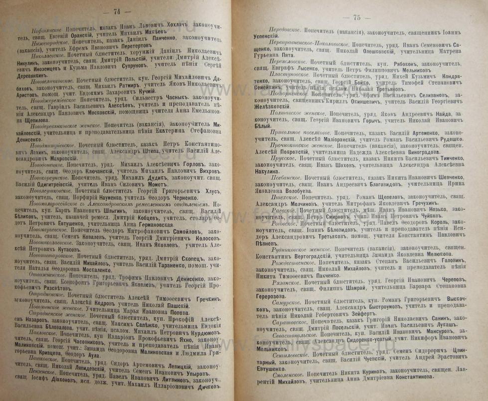 Поиск по фамилии - Кубанский календарь на 1898 год, страница 1074