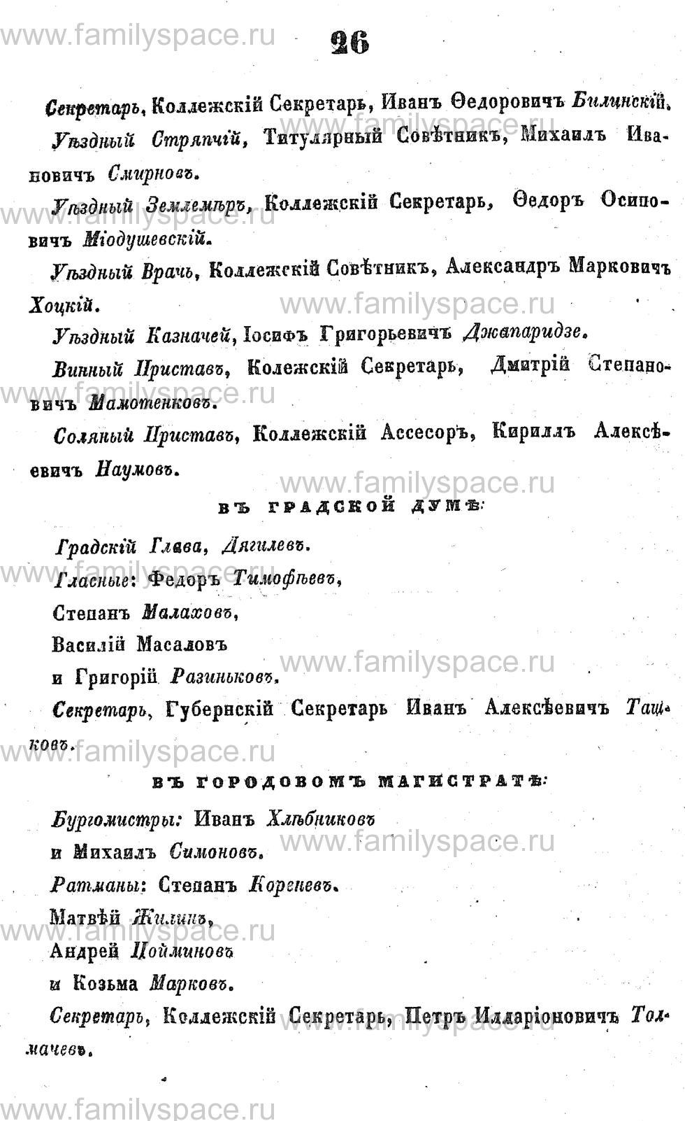 Поиск по фамилии - Адрес-календарь Курской губернии на 1853 год, страница 1026