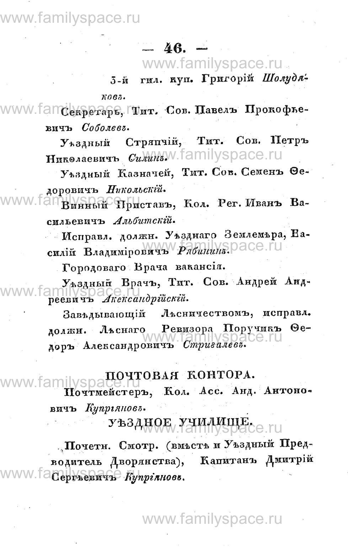 Поиск по фамилии - Памятная книжка Костромской губернии на 1853 год, страница 46