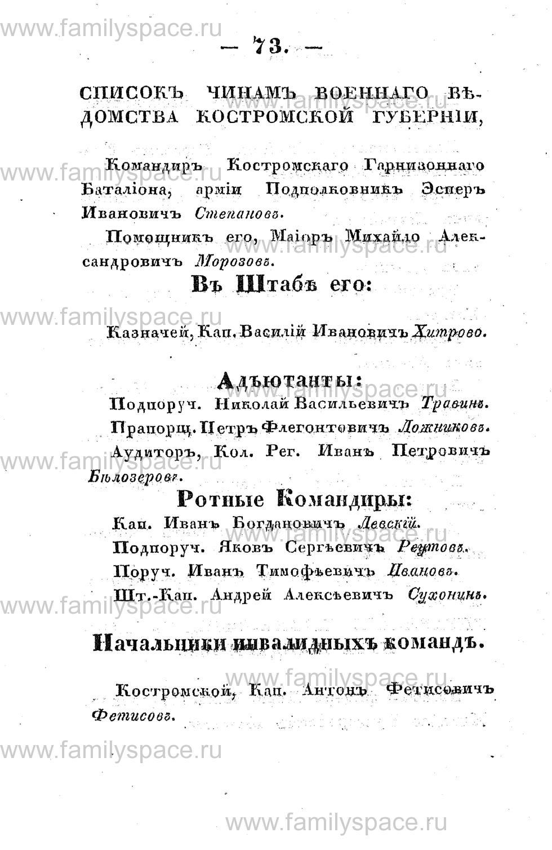 Поиск по фамилии - Памятная книжка Костромской губернии на 1853 год, страница 73