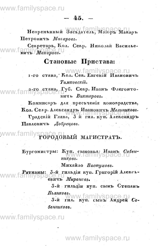 Поиск по фамилии - Памятная книжка Костромской губернии на 1853 год, страница 45