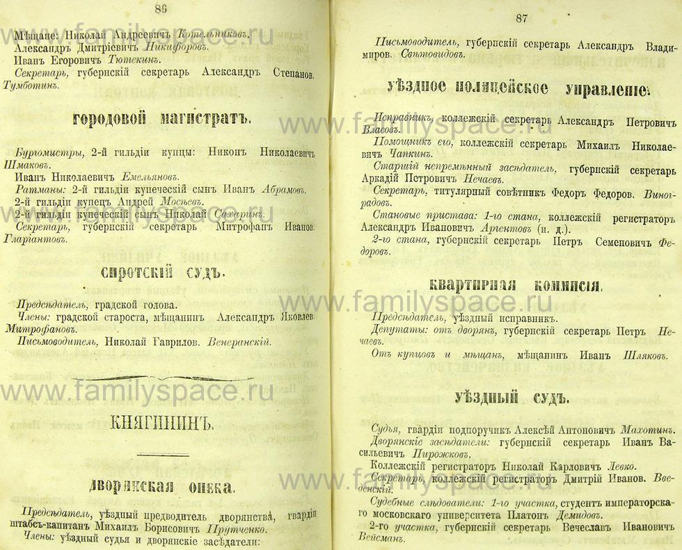 Поиск по фамилии - Памятная книжка Нижегородской губернии на 1865 год, страница 2086