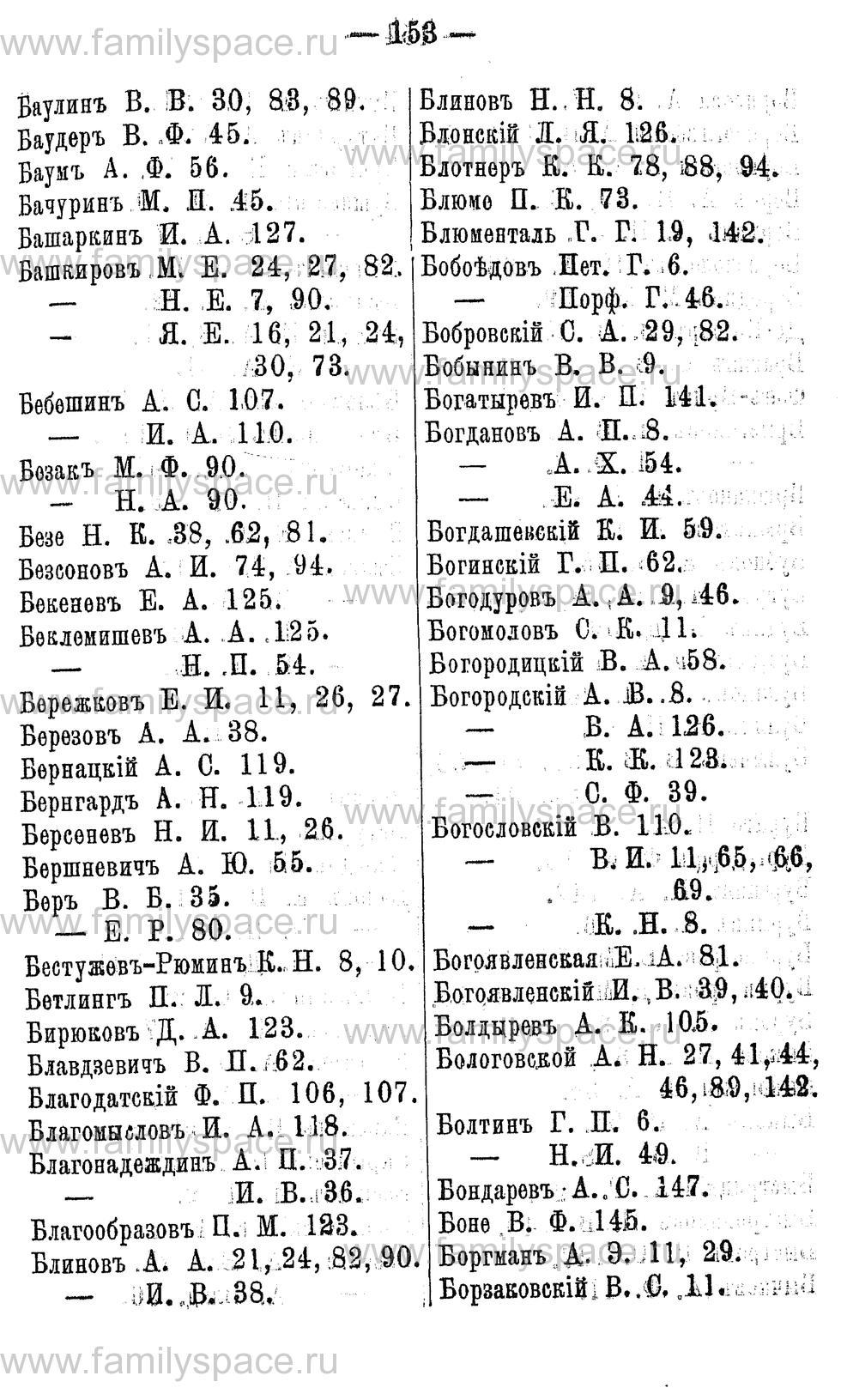 Поиск по фамилии - Адрес-календарь Нижегородской губернии на 1891 год, страница 153