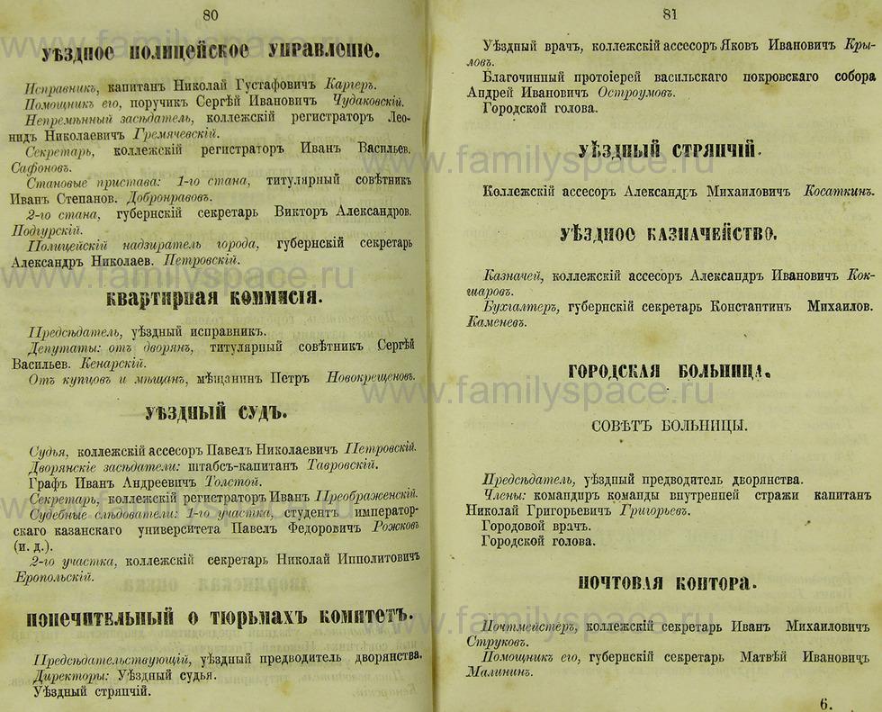 Поиск по фамилии - Памятная книжка Нижегородской губернии на 1865 год, страница 2080