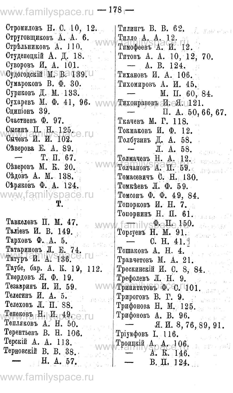 Поиск по фамилии - Адрес-календарь Нижегородской губернии на 1891 год, страница 178
