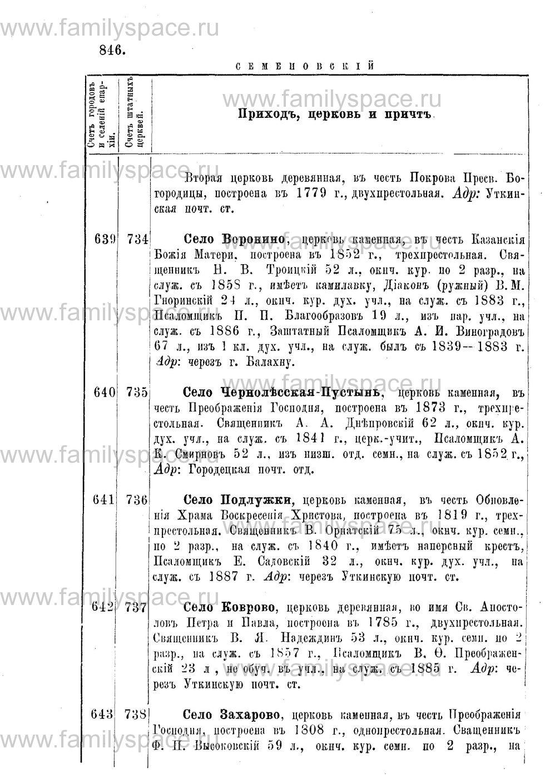Поиск по фамилии - Адрес-календарь Нижегородской епархии на 1888 год, страница 1846