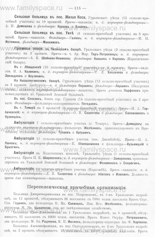 Поиск по фамилии - Памятная книжка Уральской области на 1913 год, страница 115